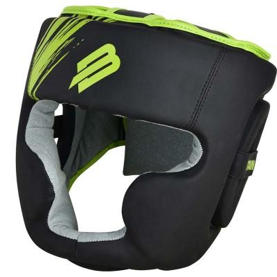 Тренировочный шлем BoyBo stain черно-зеленый в наличии в магазине Сайд-Степ