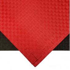 Будо-мат черно-красный 1*1 м (20 мм)