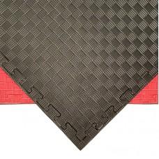 Будо-мат черно-красный prc 1*1 м (25 мм)