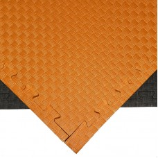 Будо-мат черно-оранжевый 1*1 м (25 мм)