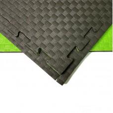 Будо-мат черно-зеленый 1*1 м (20 мм)