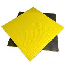 Будо-мат черно-желтый 1*1 м (40 мм)
