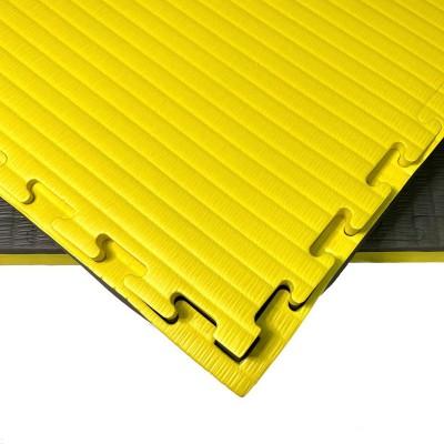 Будо-мат черно-желтый 1*1 м (40 мм) в наличии в магазине Сайд-Степ