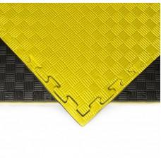 Будо-мат черно-желтый prc 1*1 м (20 мм)