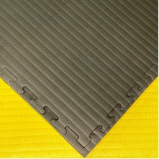 Будо-мат черно-желтый prc 1*1 м (40 мм)