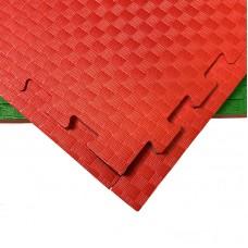 Будо-мат красно-зеленый 1*1 м (20 мм)