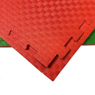 Будо-мат красно-зеленый 1*1 м (20 мм) в наличии в магазине Сайд-Степ
