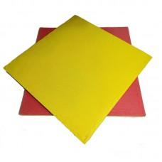 Будо-мат красно-желтый prc 1*1 м (25 мм)