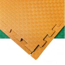 Будо-мат оранжево-зеленый 1*1 м (20 мм)