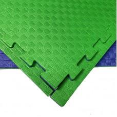 Будо-мат сине-зеленый 1*1 м (25 мм)