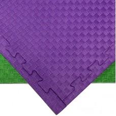 Будо-мат зелено-фиолетовый 1*1 м (25 мм)