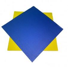 Будо-мат желто-синий 1*1 м (25 мм)