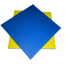Будо-мат желто-синий 1*1 м (40 мм)