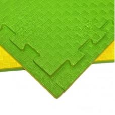 Будо-мат желто-зеленый 1*1 м (20 мм)