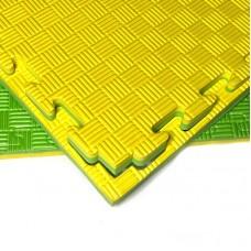 Будо-мат желто-зеленый prc 1*1 м (20 мм)