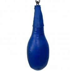 Боксерская груша удлиненная на кольце синяя 10 кг