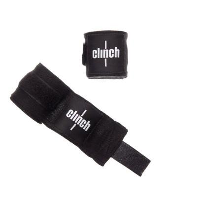 Боксерские бинты Clinch 3.5 м черные - Сайд-Степ магазин спортивной экипировки