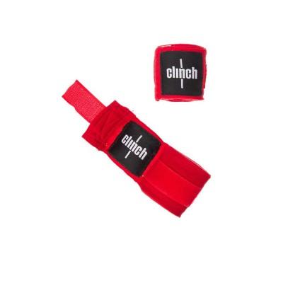 Боксерские бинты Clinch эластичные красные 2.5 м - Сайд-Степ магазин спортивной экипировки