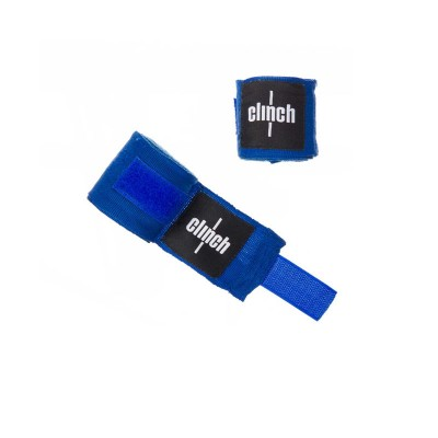 Боксерские бинты Clinch эластичные синие 2.5 м - Сайд-Степ магазин спортивной экипировки