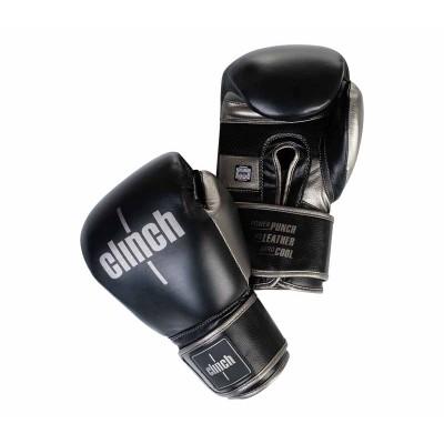 Боксерские перчатки Clinch prime 2.0 черно-бронзовые (кожа) в наличии в магазине Сайд-Степ