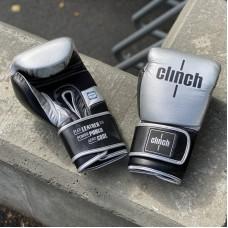 Боксерские перчатки Clinch punch 2.0 серебристо-черные