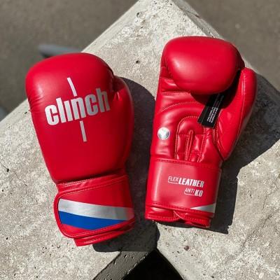 Боксерские перчатки Clinch olimp красные в наличии в магазине Сайд-Степ