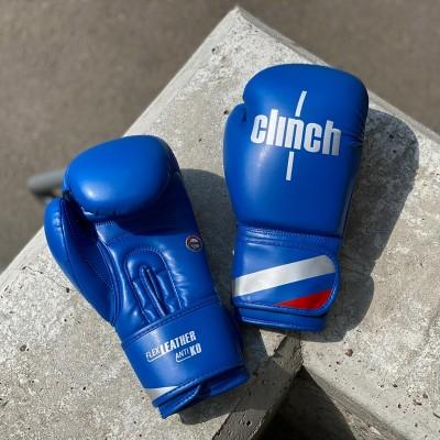 Боксерские перчатки Clinch olimp синие в наличии в магазине Сайд-Степ