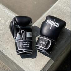 Боксерские перчатки Clinch punch 2.0 черно-серебристые