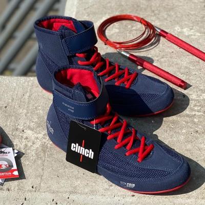Борцовки Clinch Grip сине-красные в наличии в магазине Сайд-Степ