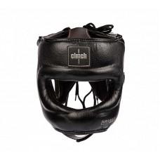 Боксерский шлем с бамперной защитой Clinch черно-бронзовый