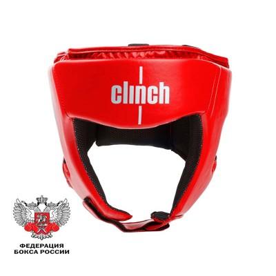 Шлем боксерский Clinch olimp красный | Сайд-Степ