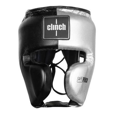 Шлем боксерский Clinch punch 2.0 черно-серебристый в наличии в магазине Сайд-Степ