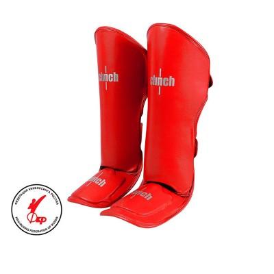 Защита голень-стопа Clinch guard kick красная в наличии в магазине Сайд-Степ
