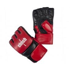 Перчатки ММА Clinch combat черно-красные
