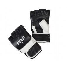 Перчатки ММА Clinch combat черно-белые (кожа)