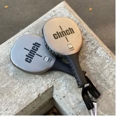 Тренерские лапы-ракетки для бокса Clinch target черно-бронзовые