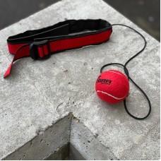 Боксерский мячик на голову Cobra красный