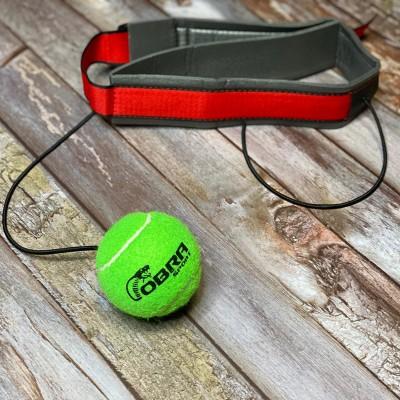 Боксерский мячик на голову Cobra зеленый | Сайд-Степ