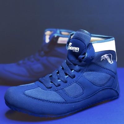 Борцовки Cobra синие в наличии в магазине Сайд-Степ