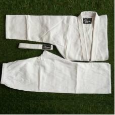 Кимоно для дзюдо Cobra silver белое (с поясом)