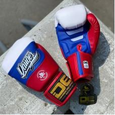 Боксерские перчатки Danger evolution white/blue/red sl