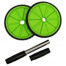 Ролик для пресса Espado двойной черно-зеленый