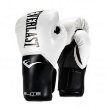Боксерские перчатки Everlast elite prostyle черно-белые