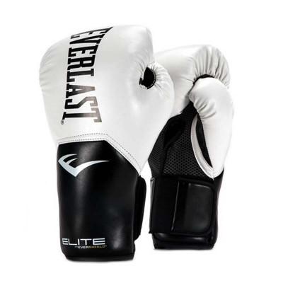 Боксерские перчатки Everlast elite prostyle черно-белые в наличии в магазине Сайд-Степ