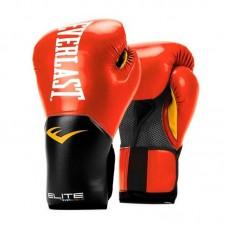 Боксерские перчатки Everlast elite prostyle черно-красные