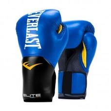 Боксерские перчатки Everlast elite prostyle черно-синие