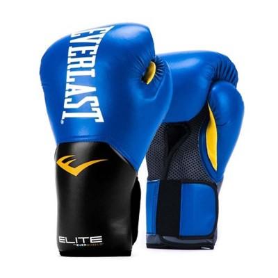 Боксерские перчатки Everlast elite prostyle черно-синие в наличии в магазине Сайд-Степ