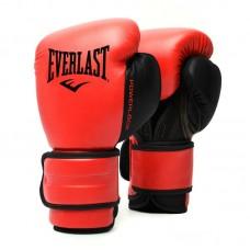 Боксерские перчатки Everlast powerlock pu 2 черно-красные