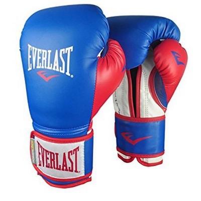 Боксерские перчатки Everlast powerlock pu сине-красные в наличии в магазине Сайд-Степ