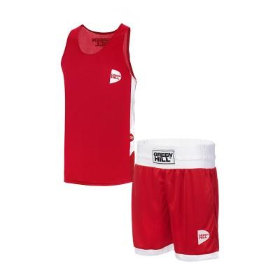 Боксерская форма Green Hill interlock детская красная | Сайд-Степ